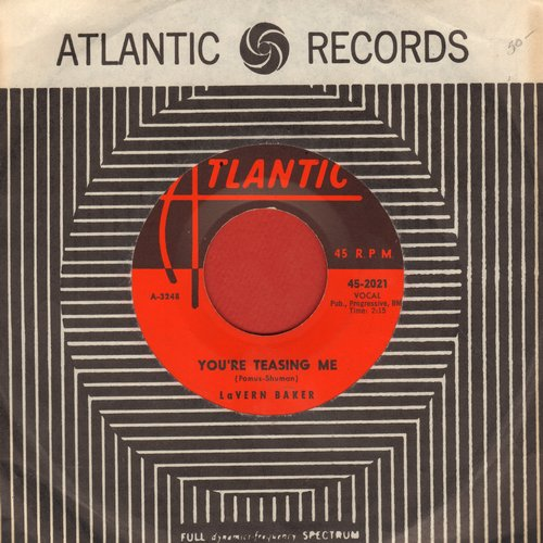 Baker, LaVern - You're Teasing Me/I Waited Too Long (with vintage Atlanic company sleeve) - NM9/ - 45 rpm Records