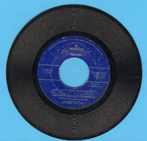 Bachman-Turner Overdrive - Takin' Care Of Business/You Ain't Seen Nothing Yet (double-hit re-issue) - VG7/ - 45 rpm Records