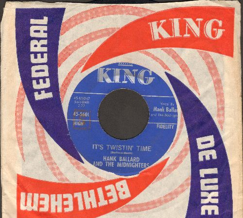 Ballard, Hank & The Midnighters - It's Twistin' Time/Autumn Breeze (with vintage King company sleeve) - EX8/ - 45 rpm Records