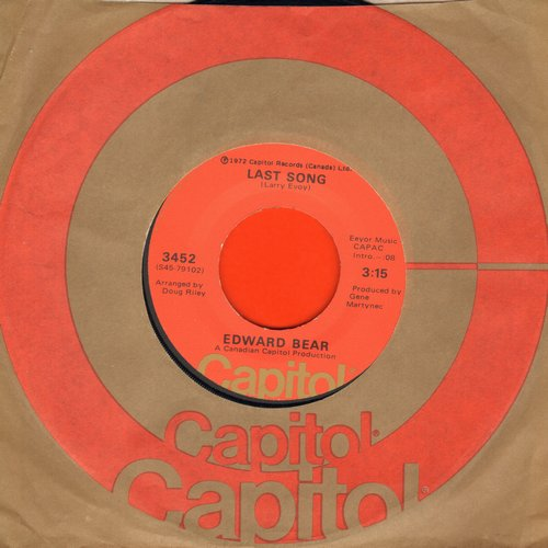Bear, Edward - Last Song/Best Friend (MINT condition with Capitol company sleeve) - M10/ - 45 rpm Records