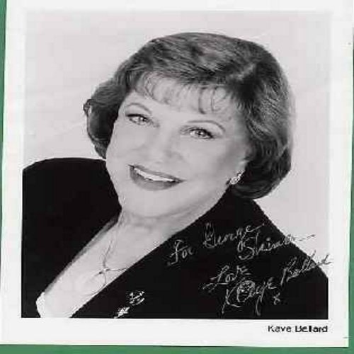 Ballard, Kaye - 8 X 10 b&w personally autographed foto, signed -For George Skimer, Love Kaye Ballard-. Kaye Ballard was best known for her role co-starring with Eve Arden in the 1960s Sit-Com -The Mothers In Law-. The Comedienne had a trademark -overbeari