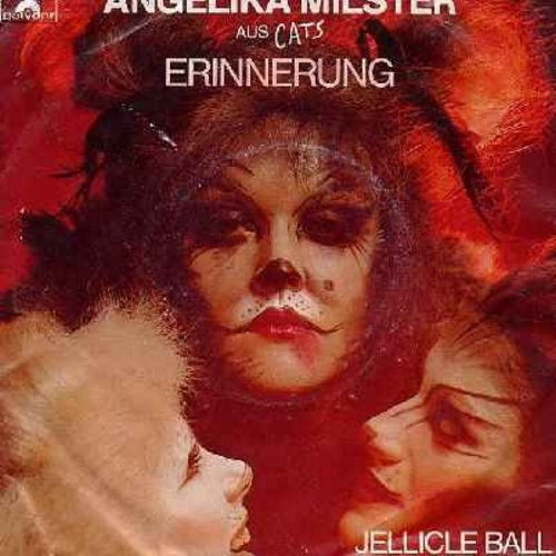 Milster, Angelika & Orchester des Theaters an der Wien - Erinnerung (German version of -Memory- from Braodway Hit -Cats-)/Jellicle Ball (Instrumental) (German Pressing with picture sleeve) - NM9/VG7 - 45 rpm Records