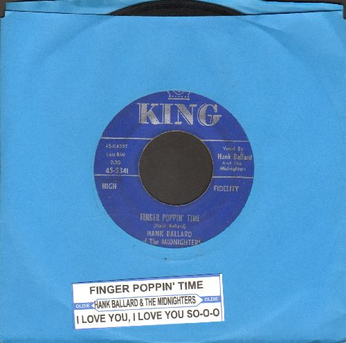 Ballard, Hank & The Midnighters - Finger Poppin' Time/I Love You, I Love You SO-S-O (with juke box label) - VG6/ - 45 rpm Records