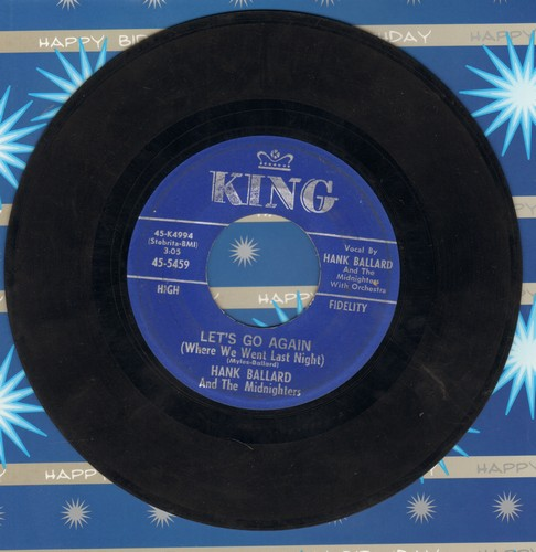 Ballard, Hank & The Midnighters - Let's Go Again (Where We Went Last Night)/Deep Blue Sea (sol) - VG7/ - 45 rpm Records