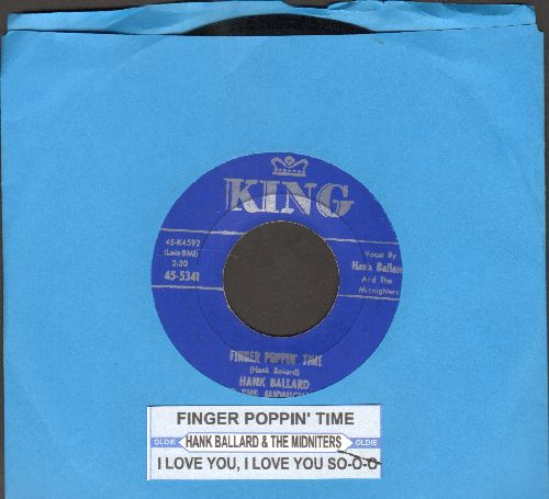 Ballard, Hank & The Midnighters - Finger Poppin' Time/I Love You, I Love You SO-S-O (with juke box label) - EX8/ - 45 rpm Records