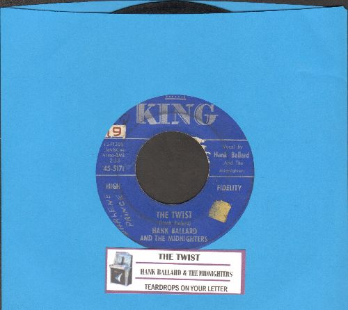 Ballard, Hank & The Midnighters - The Twist/Teardrops On Your Letter (with juke box label)) - VG7/ - 45 rpm Records