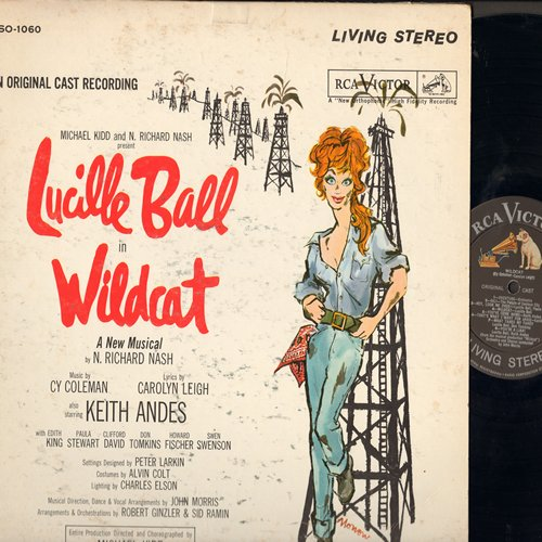 Ball, Lucille - Wildcat - Original Broadway Cast Recording starring America's Supreme Funny Lady, Lucille Ball!  (Vinyl STEREO LP record) - NM9/VG7 - LP Records