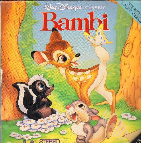 Disney - Disney's Bambi LASERDISC - NM9/EX8 - LaserDiscs