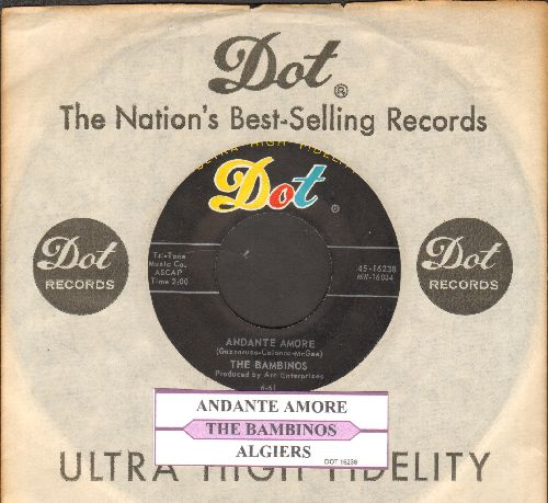 Bambinos - Algier/Andante Amore (RARE vintage Jazz 2-sider with Dot company sleeve and juke box label) - NM9/ - 45 rpm Records