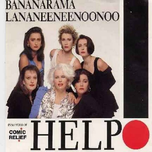 Bananarama - Help! (long version + short version of legendary Lennon/McCartney Hit - Special issue in support of Comic Relief - with picture sleeve featuring the British Comedy Duo French & Saunders!) - NM9/EX8 - 45 rpm Records