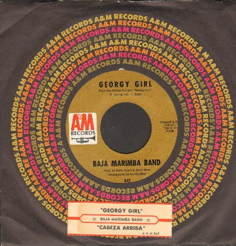 Baja Marimba Band - Georgy Girl/Cabeza Arriba! (with juke box label and A&M company sleeve) - NM9/ - 45 rpm Records