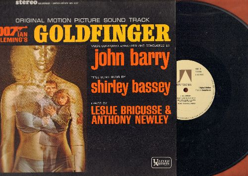 Barry, John, Shirley Bassey - Goldfinger - Original Motion Picture Sound Track featuring title song by Shirley Bassey (Vinyl STEREO LP record, brown label 1970s pressing) - NM9/NM9 - LP Records