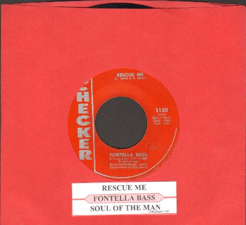 Bass, Fontella - Rescue Me/Soul Of The Man (red label pressing with juke box label) - EX8/ - 45 rpm Records