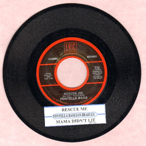 Bradley, Jan - Mama Didn't Lie/Rescue Me (by Fontella Bass on flip-side) (re-issue with juke box label) - NM9/ - 45 rpm Records