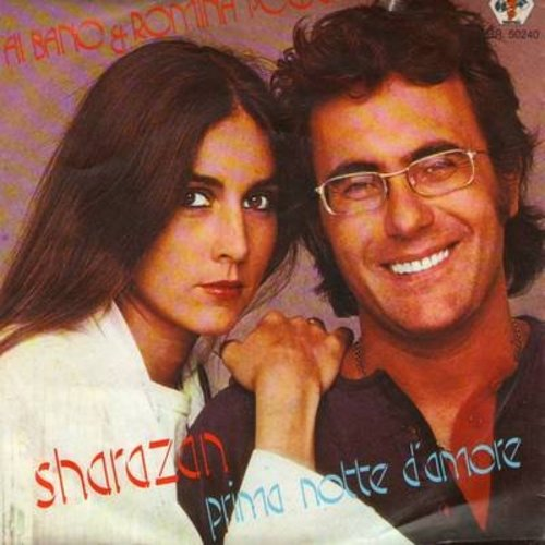 Bano, Al & Romina Power - Sharazan/Prima Notte D'Amore (Dutch Pressing with picture sleeve, sung in Italian) - NM9/EX8 - 45 rpm Records