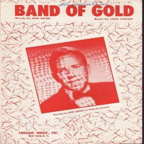 Cherry, Don - Band Of Gold - Vintage SHEET MUSIC for the song made popular by Don Cherry (THIS IS SHEET MUSIC, NOT ANY OTHER KIND OF MEDIA!) - EX8/ - Sheet Music