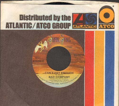 Bad Company - Can't Get Ednough/Little Miss Fortune (with Atlantic company sleeve) - NM9/ - 45 rpm Records
