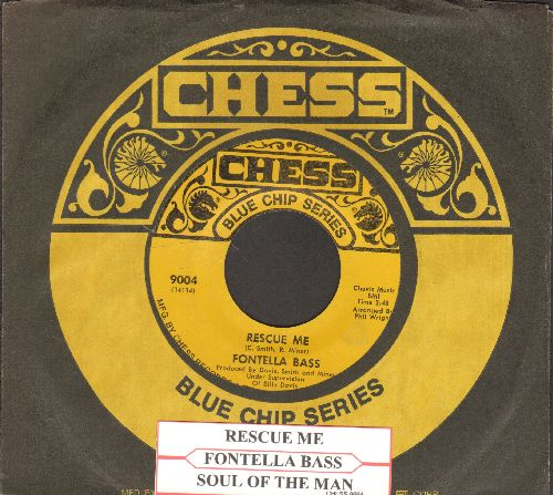 Bass, Fontella - Rescue Me/Soul Of The Man (re-issue with juke box label and Chess company sleeve) - NM9/ - 45 rpm Records