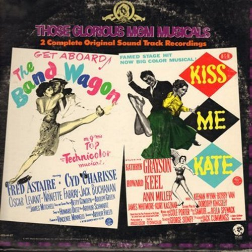 Band Wagon, Kiss Me Kate - Band Wagon and Kiss Me Kate. 2 complete MGM Musical Sound Tracks, featuring Fred Astaire, Cyd Charisse, Kathryn Grayson and Howard Keel (2 vinyl LP record set, gate-fold cover) - NM9/VG7 - LP Records