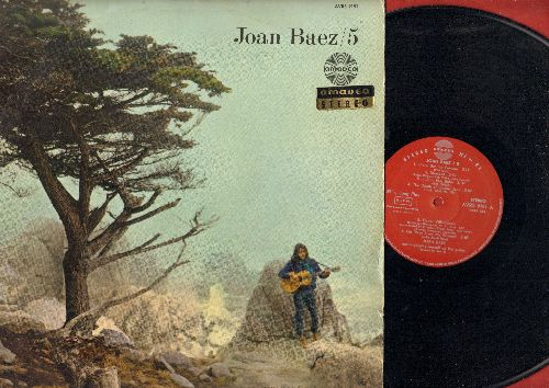 Baez, Joan - Joan Baez/5: There But For Fortune, It Ain't Me Babe, Birmingham Sunday, The death Of Queen Jane (vinyl STEREO LP record, Austrian Pressing) - EX8/EX8 - LP Records
