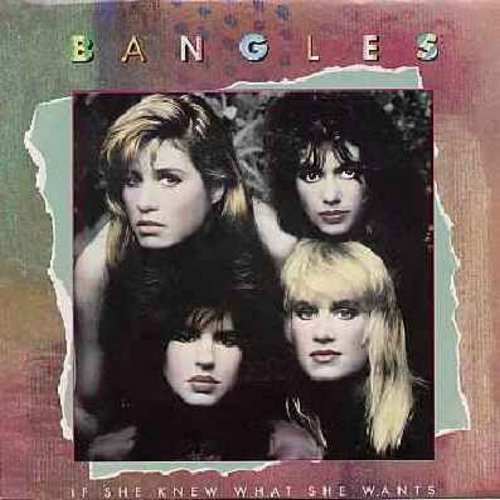 Bangles - If She Knew What She Wants/Not Like You (with picture sleeve) - M10/EX8 - 45 rpm Records