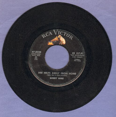 Bare, Bobby - 500 Miles Away From Home/It All Depends On Linda - EX8/ - 45 rpm Records