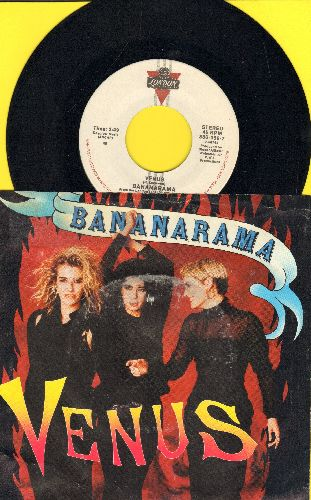 Bananarama - Venus (Baby, She's Got It!)/White Train (with picture sleeve) - NM9/EX8 - 45 rpm Records
