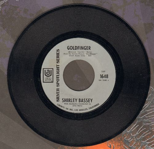 Bassey, Shirley - Goldfinger/Strange How Love Can Be (early re-issue) - NM9/ - 45 rpm Records