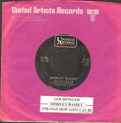 Bassey, Shirley - Goldfinger/Strange How Love Can Be (NICE condition with juke box label) - M10/ - 45 rpm Records