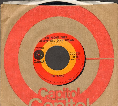 Band - The Night They Drove Old Dixie Down/Up On Cripple Creek (with Capitol company sleeve) - NM9/ - 45 rpm Records