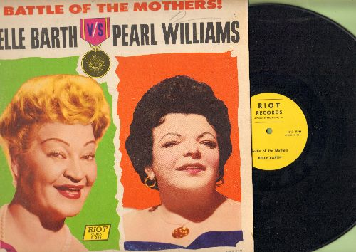 Barth, Belle, Pearl Williams - Battle Of The Mothers! - Belle Barth vs. Parl Williams: Hilarious Live recordings of the supreme bawdy broads of comedy (vinyl MONO LP record) - EX8/EX8 - LP Records
