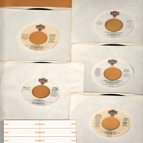 Bananarama - Bananarama 5-Pack: Original 45s include hitsThe Wild Life, More Than Physical, A Trick Of The Night, I Can't Help It, Strike It Rich. With 6 blank juke box labels! - M10/ - 45 rpm Records