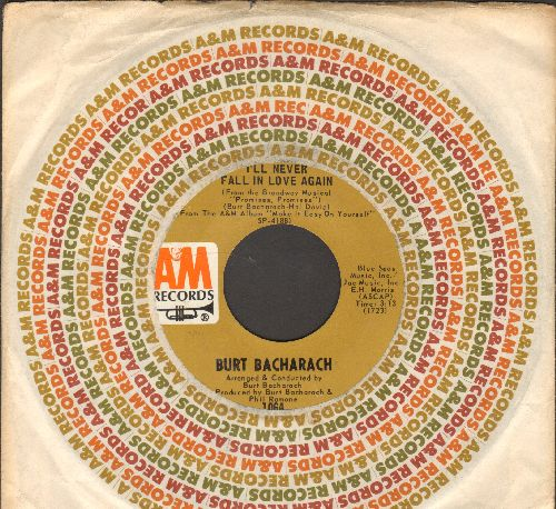 Bacharach, Burt - I'll Never Fall In Love Again/Pacific Coast Highway (with company sleeve) - NM9/ - 45 rpm Records