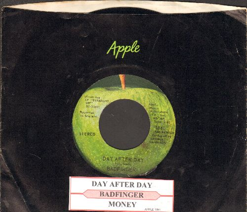 Badfinger - Day After Day/Money (with juke box label and Apple company sleeve!) - EX8/ - 45 rpm Records