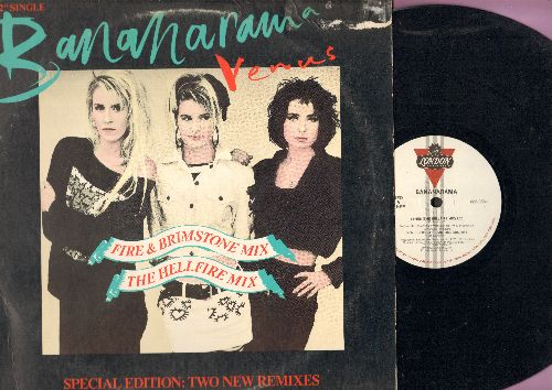 Bananarama - Venus (9:20 minutes Hellfire Mix), Venus (6:44 minutes Fire & Brimstone Mix), Venus (7:20 Extended Version) Venus (8:15 Dub Version) (12 inch vinyl Maxi Single with picture cover) - NM9/VG7 - Maxi Singles