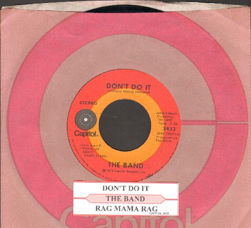 Band - Don't Do It/Rag Mama, Rag (with juke box label and Capitol company sleeve) - EX8/ - 45 rpm Records