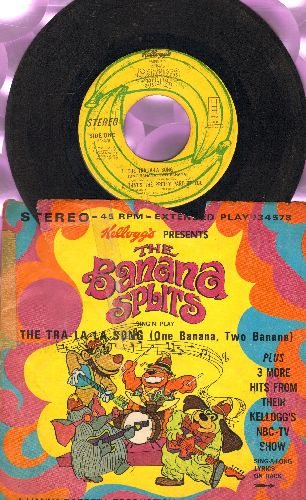 Banana Splits - Tra-La-La-La-La-La-La (The Banana Splits Song)/That's The Pretty Part Of You/It's A Good Day For A Parade/The Very First Kid On The Block (vinyl EP record with picture sleeve) - VG6/VG6 - 45 rpm Records