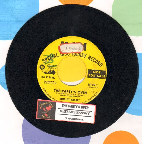 Bassey, Shirley - The Party's Over (from -Bells Are Ringing-)/'S Wonderful (DJ advance pressing with juke box label, wol,sol) - VG7/ - 45 rpm Records
