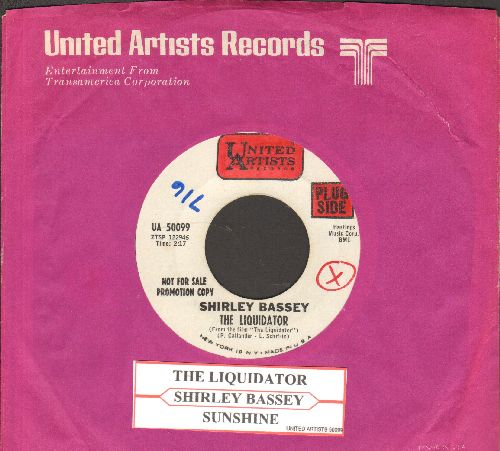 Bassey, Shirley - The Liquidator/Sunshine (DJ advance pressing with juke box label and company sleeve)(wol) - NM9/ - 45 rpm Records