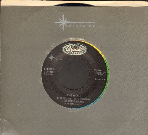 Band - The Night They Drove Old Dixie Down/Up On Cripple Creek (double-hit re-issue with company sleeve) - NM9/ - 45 rpm Records