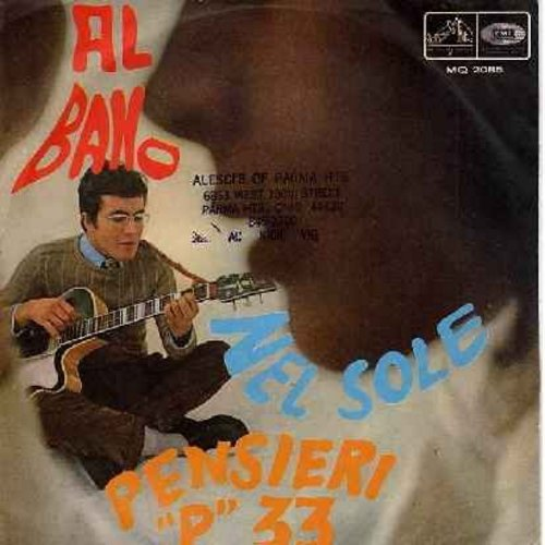 Bano, Al - Pensieri -P- 33/Nel Sole (Italian Pressing with picture sleeve) - EX8/VG7 - LP Records