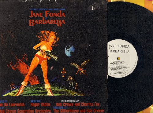 Barbarella - Jane Fonda as Barbarella: Re-issue of Original Soundtrack, includes Main Theme written by Bob Crewe (Vinyl LP record, no label or number given, re-issue) - EX8/VG7 - LP Records