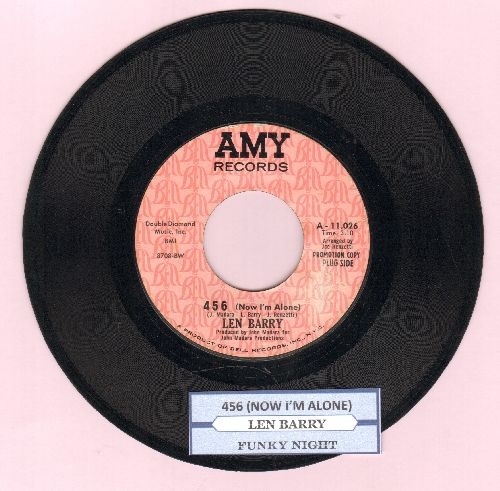 Barry, Len - 456 (Now I'm Alone)/Funky Night (DJ advance pressing with juke box label) - EX8/ - 45 rpm Records