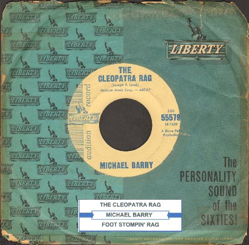 Barry, Michael - Foot Stompin' Rag/The Cleopatra Rag (Ragtime Piano Style) (DJ copy with company sleeve and juke box label) - EX8/ - 45 rpm Records