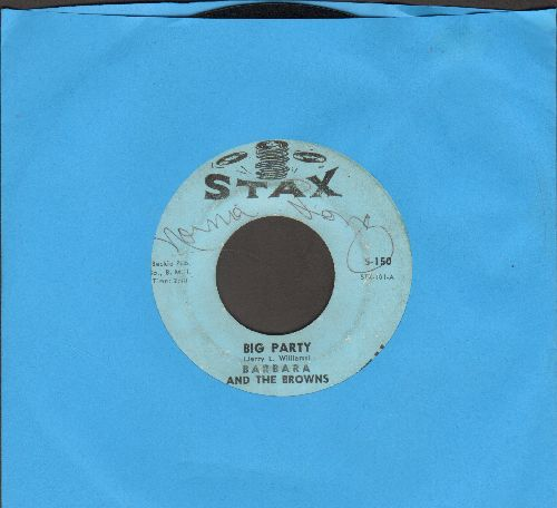 Barbara & The Brown - Big Party/You Belong To Her (minor wol) - VG7/ - 45 rpm Records