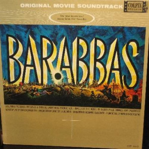 Barabbas - Barabbas - Original Motion Picture Sound Track (Vinyl MONO LP record, gate-fold cover) - EX8/EX8 - LP Records