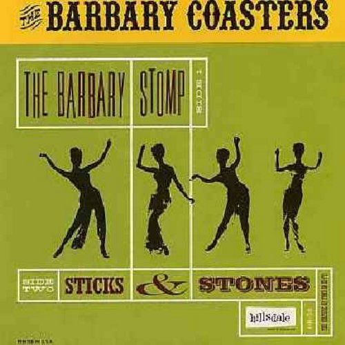 Barbary Coasters - The Barbary Stomp/Sticks & Stones (re-issue of vintage Drag/Surf recordings with picture sleeve) - M10/NM9 - 45 rpm Records
