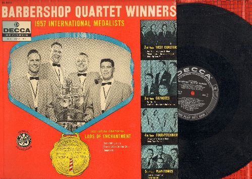 Lads Of Enchantment, West Coasters, Gaynotes, others - Barbershop Quartet Winners - 1957 International Medalists (vinyl MONO LP record) - VG7/EX8 - LP Records