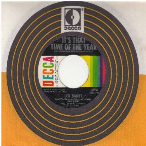 Barry, Len - Happily Ever After/It's That Time Of The Year (with Decca company sleeve) - NM9/ - 45 rpm Records