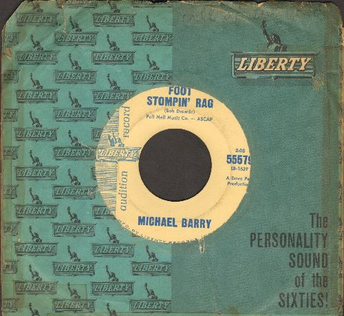 Barry, Michael - Foot Stompin' Rag/The Cleopatra Rag (Ragtime Piano Style) (DJ copy with company sleeve) - NM9/ - 45 rpm Records